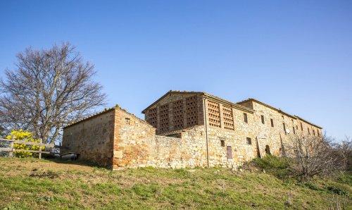 Explotación agrícola en Montalcino