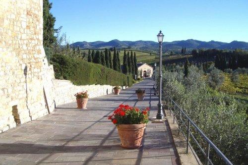 Schloss in Gaiole in Chianti