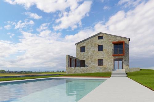 Klein huisje op het platteland in Loro Piceno