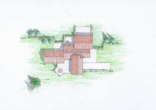 Klein huisje op het platteland in Servigliano