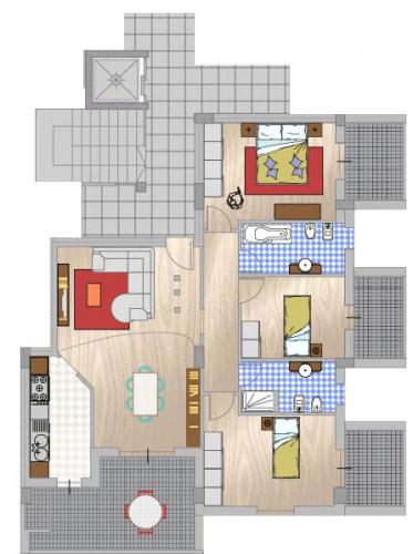 Apartamento em Téramo