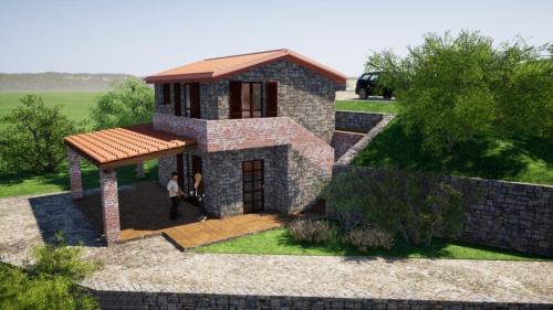 Hus på landet i Serramezzana